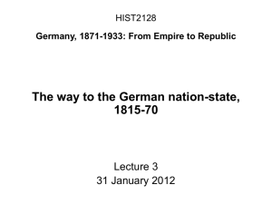 HIST2128 Germany, 1871-1933: From Empire to Republic