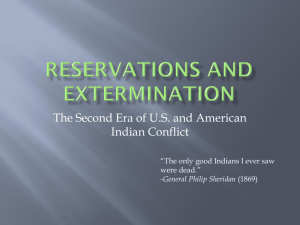 Lecture: Wars against Indians
