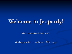 Chapter 1A Jeopardy