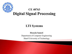 Lecture03_LTI - Department of Computer Engineering