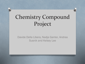 Chemistry project Davide