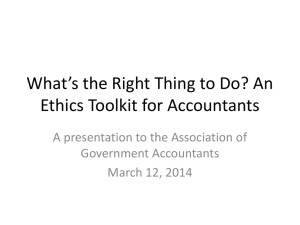 An Ethics Toolkit for Internal Auditors - Aga