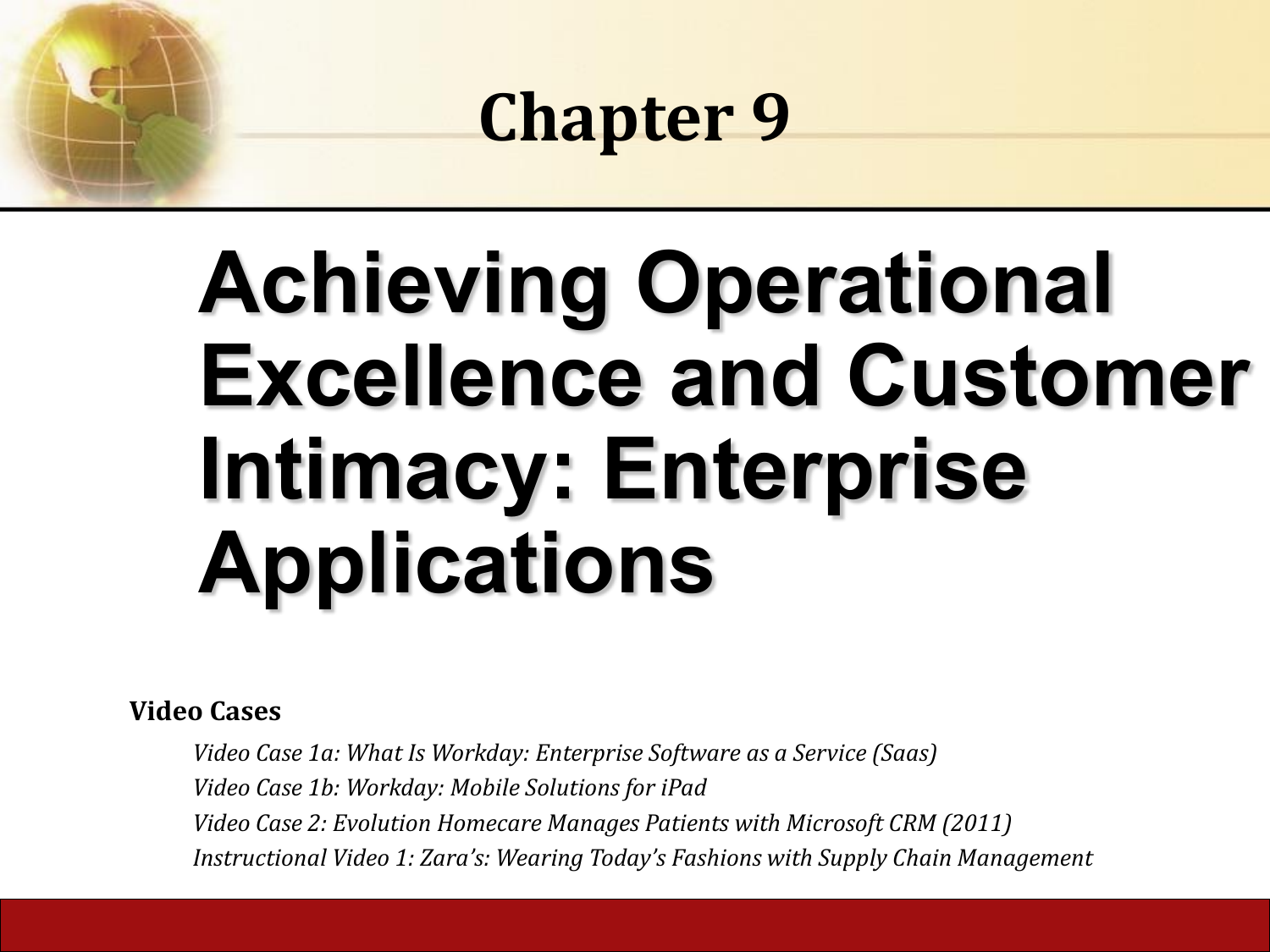 how do enterprise systems help businesses achieve operational excellence?