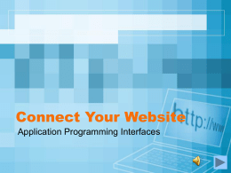 Connect Your Website - Learning, Design and Technology