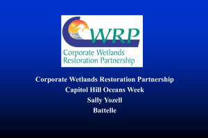 Corporate Wetlands Restoration Partnership