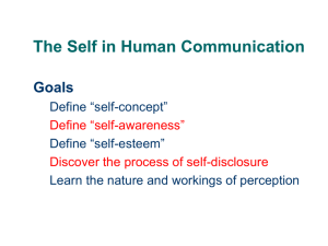 COM110 Week 2 The Self in Human Communication