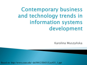 Contemporary business and technology trends in information