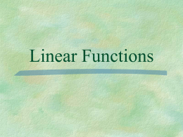 Review of Linear Equations (sections 2.2 through 2.4)