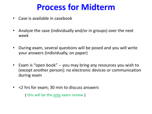 Mid-term Exam Preparation