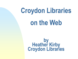 Croydon Online Community Network a DCMS/Wolfson Project