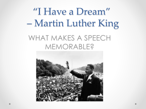 *I Have a Dream* * Martin Luther King