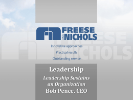 Leadership Presentation-Bob Pence