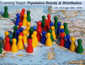 Ch. 14.3 Population Density and Distribution PowerPoint w/ notes