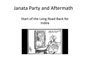 Janata Party and After