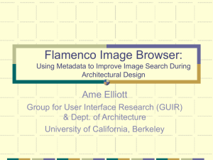 Flamenco Image Browser: Using Metadata to