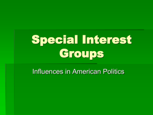 What is a special interest group? Special interest groups are groups