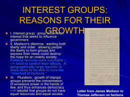 lecture: interest groups