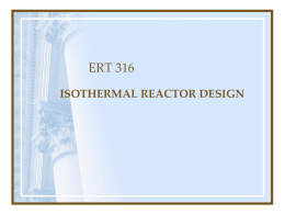 Isothermal Reactor Design Part 1