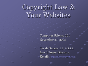 Copyrights and your website