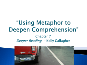 Using Metaphor to Deepen Comprehension