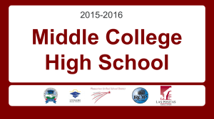 Middle College High School - Dublin Unified School District
