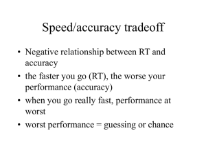 Speed/accuracy tradeoff