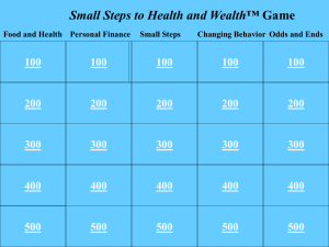 Small Steps to Health and Wealth™ Interactive PowerPoint Game