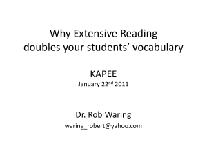 Why ER Doubles Your vocabulary