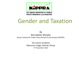 Gender and Taxation - TAX JUSTICE ACADEMY