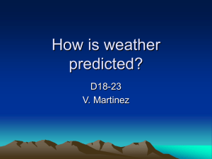 How is weather predicted?