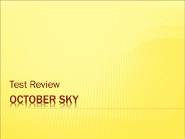 October Sky Test Review with Answers 97