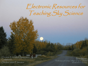Electronic Resources for Teaching Sky Science