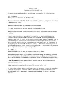 rhetorical precis worksheet