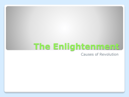 The Enlightenment - Fort Thomas Independent Schools