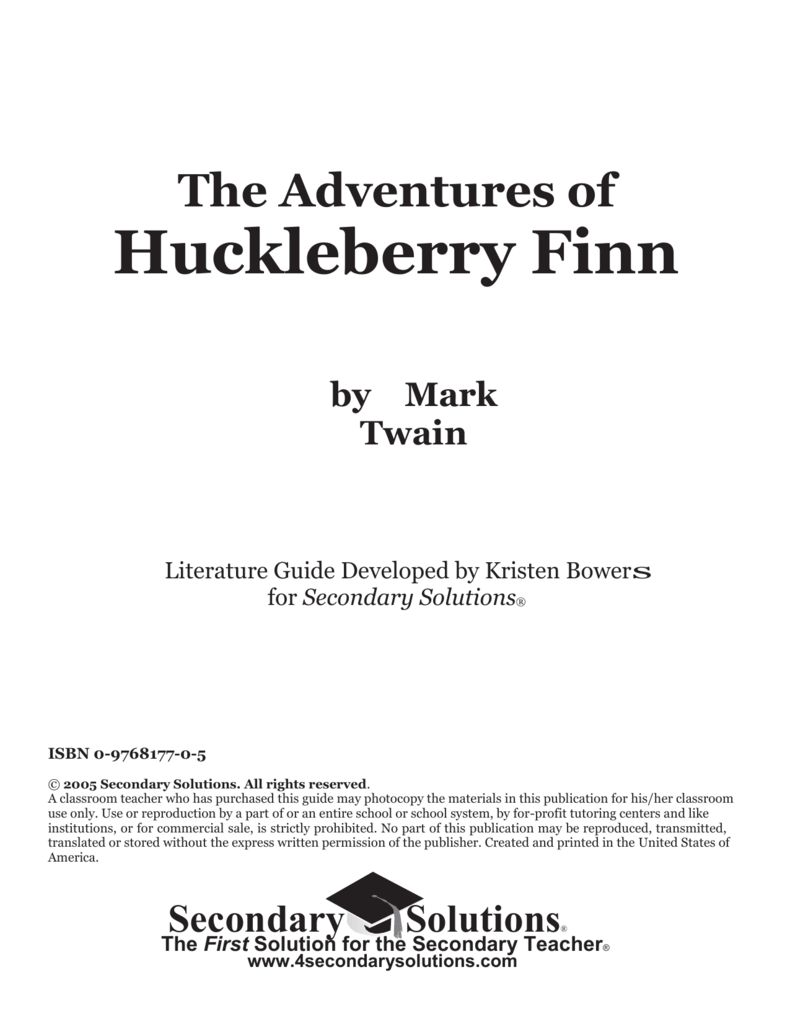 huckleberry finn seminar questions The adventures of huckleberry finn study guide and discussion questions home  discussion questions 1 what is huck and jim's plan to reach safe territory.