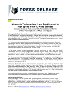 11-3 Comcast Partnership - Timberwolves Media Center