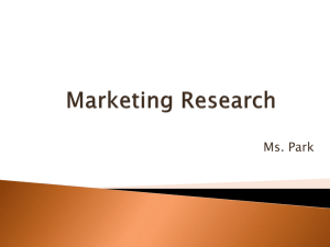Marketing Research Jeopardy
