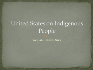 United States on Indigenous People - Legal studies