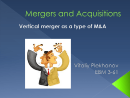 Mergers and acquisitions - english-ebm