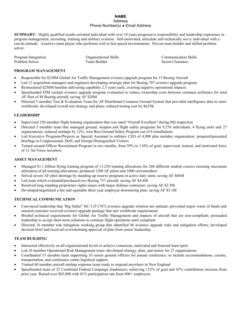 sample skills based  combination resume