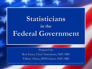 Statisticians in the Federal Government
