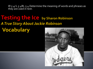 (Jackie Robinson) Vocabulary Power Point