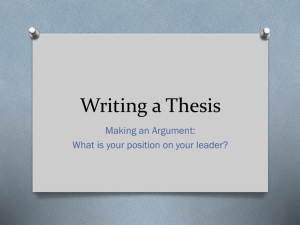 Thesis PowerPoint Presentation.