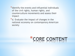IV. Demand for Civil Rights