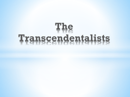 "transcendentalism vs anti transcendentalism essay In the mid-1830s, ralph waldo emerson created a belief called  transcendentalism he wrote the essay, ""self reliance"" and henry david  thoreau, another."