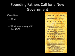 Founding Fathers Call for a New Government