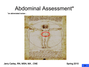 Abdominal Assessment Abbreviated Review