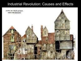 I. Causes of the Industrial Revolution