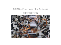 BBI2O - Business Functions, Production