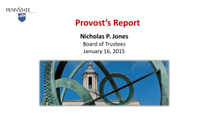 Faculty Composition Report Nicholas P. Jones Board of Trustees